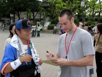 SIGNING AUTOGRAPHS IN OSAKA